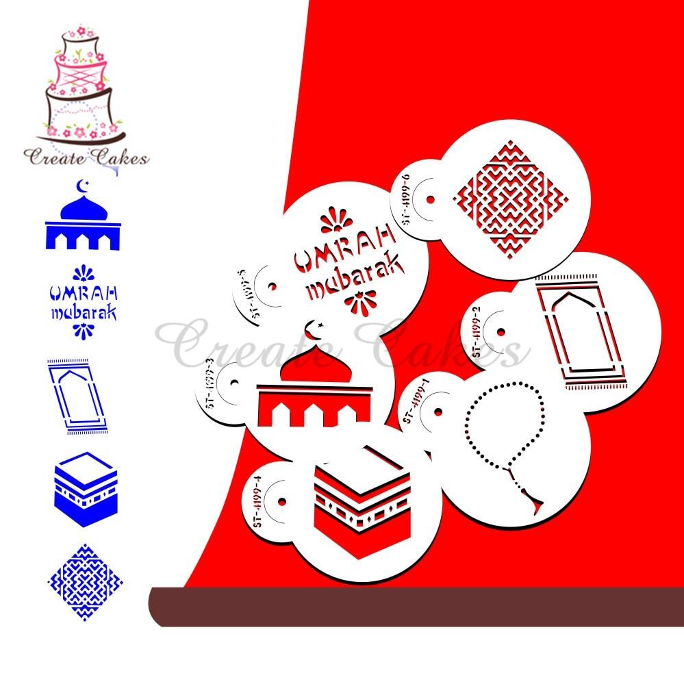 [해외]케이크와 쿠키 플라스틱 장식 스텐실 퐁당 장식 sugarcraft 도구 bakeware에 대한 eid 무바라크 스텐실/케이크와 쿠키 플라스틱 장식 스텐실 퐁당 장식 sugarcraft 도구 bakeware에 대한 eid 무바라크 스텐실