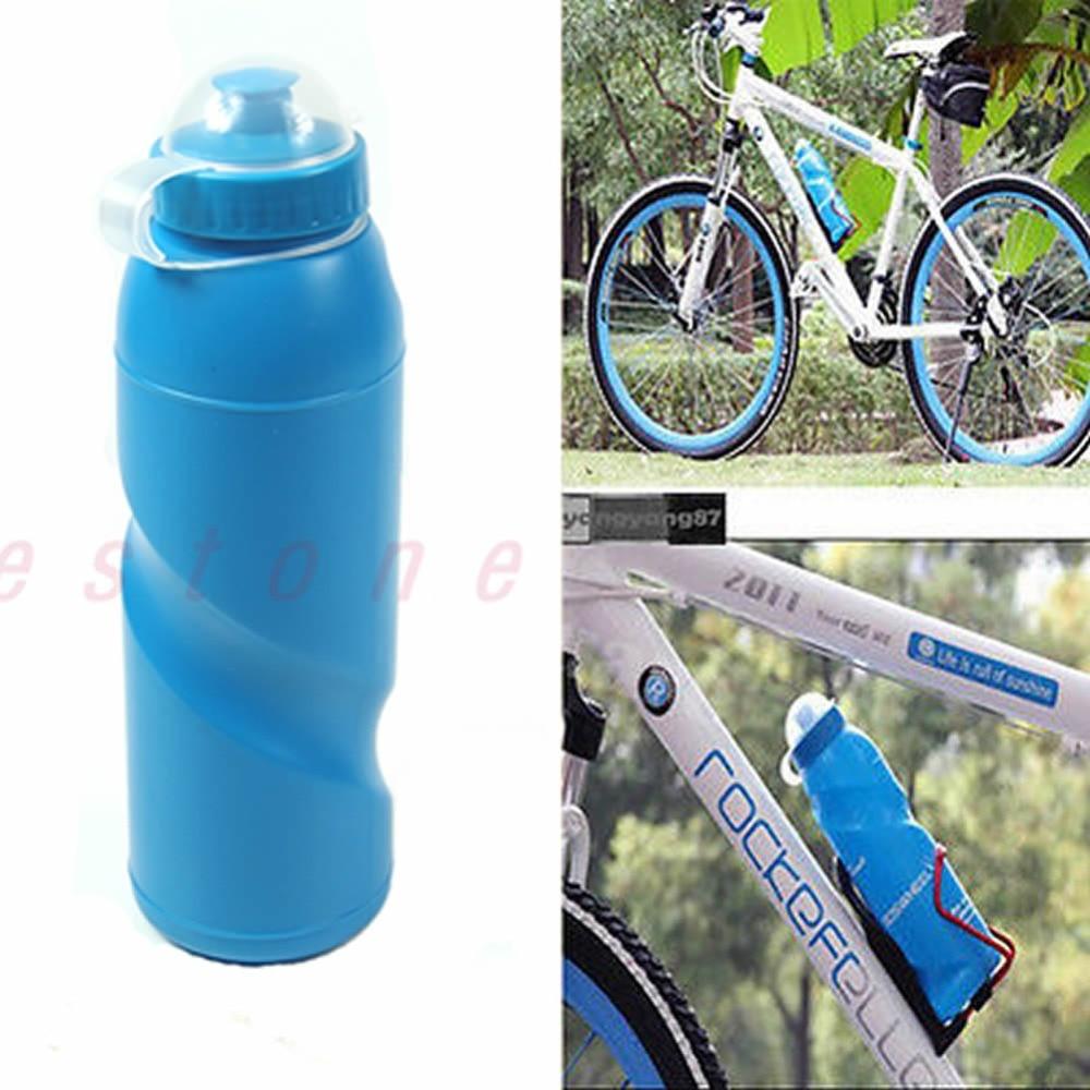 [해외]새로운 옥외 스포츠 사이클 자전거 캠핑 자전거 자전거 700ml 스포츠 물병 블루/New Outdoor Sports Cycling Camping Bicycle Bike 700ml Sports Water Bottle Blue