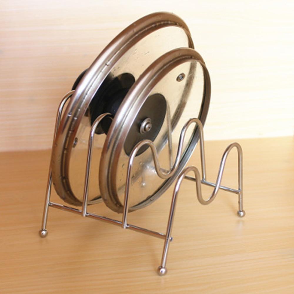 [해외]Iron Place Pot Lid Shelf Holder Storage Tool for Kitchen Organizer Goods Pan Cover Rack Stand Spoon Kitchen Accessory/Iron Place Pot Lid Shelf Hol