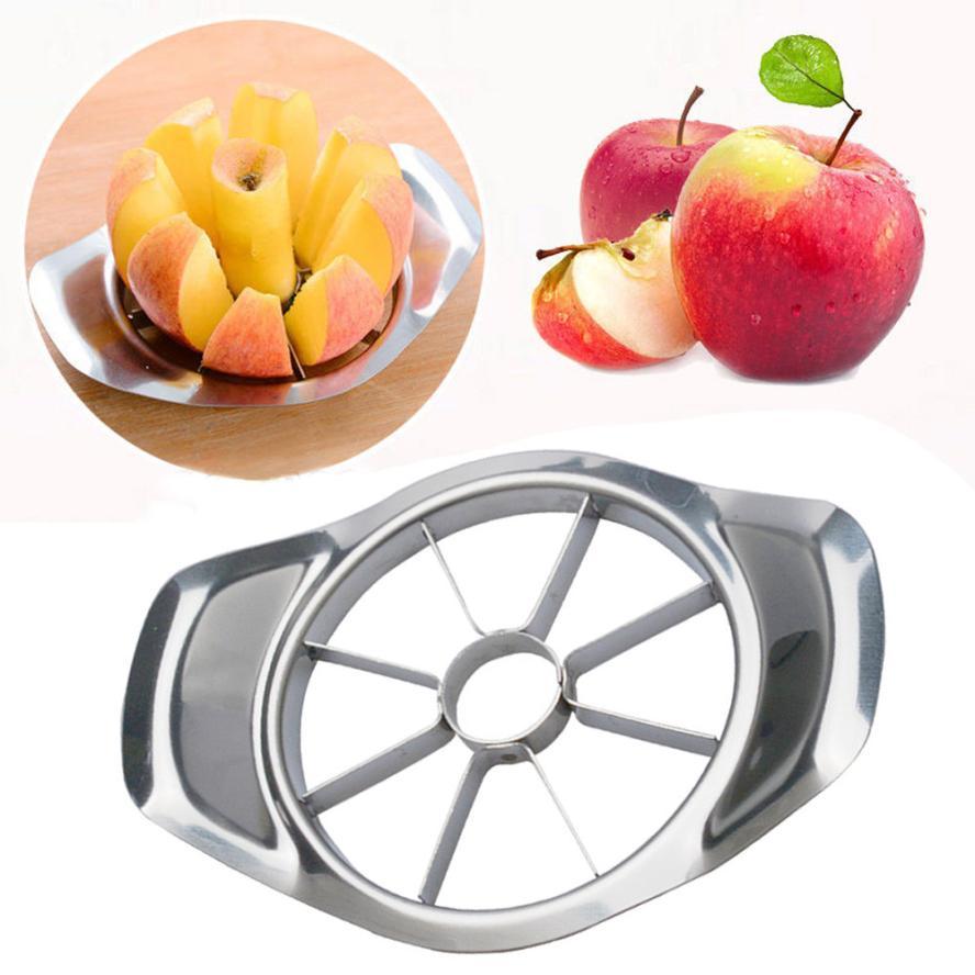새로운 1 pc 스테인레스 스틸 과일 사과 배 쉬운 컷 슬라이서 커터 디바이더 필러 2o913