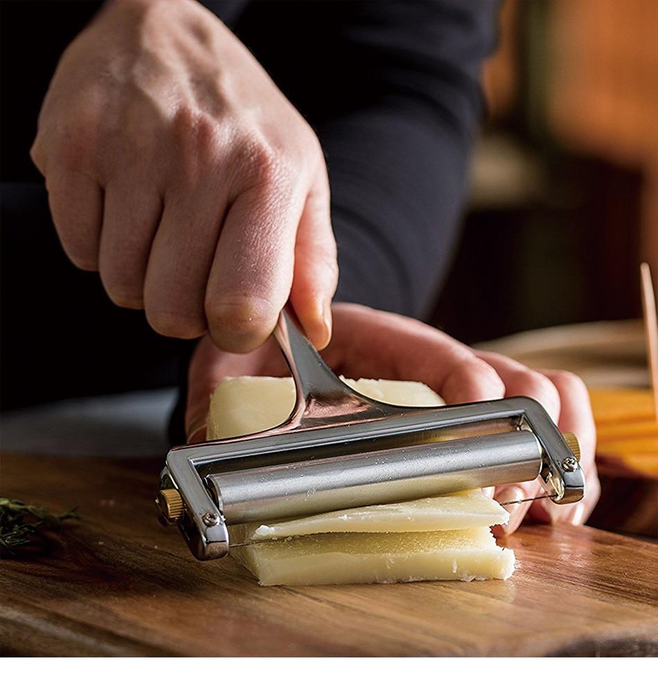 [해외]1 pc 수동 아연 합금 치즈 슬라이서 조정 가능한 버터 커터 치즈 강판 나이프 베이킹 요리 도구 주방 가제트 ok 0513/1 pc 수동 아연 합금 치즈 슬라이서 조정 가능한 버터 커터 치즈 강판 나이프 베이킹 요리 도구 주방 가제트 ok 0
