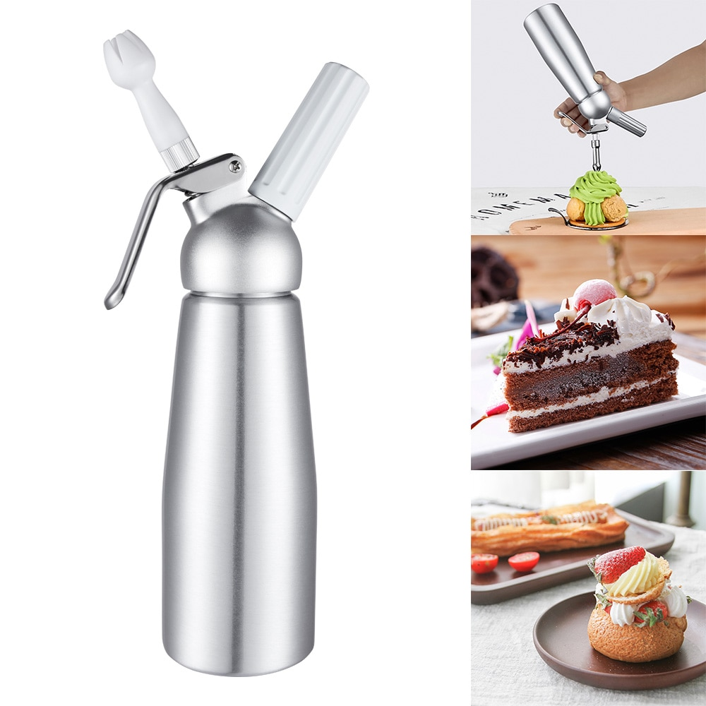 [해외]500ml Professional  Whipped Cream Dispenser Aluminium Cream Whipper Dessert Tools/500ml Professional  Whipped Cream Dispenser Aluminium Cream Whip
