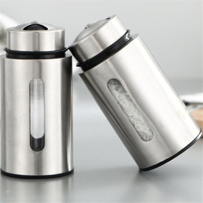 [해외]Stainless Steel Seasoning Spice Box Tea Coffee Storage Container Jar Mini Seasoning box seasoning tank seasoning salt shaker/Stainless S