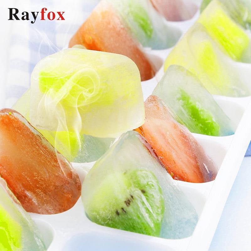 [해외]Kitchen Accessories 14 Grids Ice Cube TrayCover Stackable Silicone Mould  Fruit Ice Cream Dessert Sugar Drink Jell Tray K./Kitchen Accessories 14