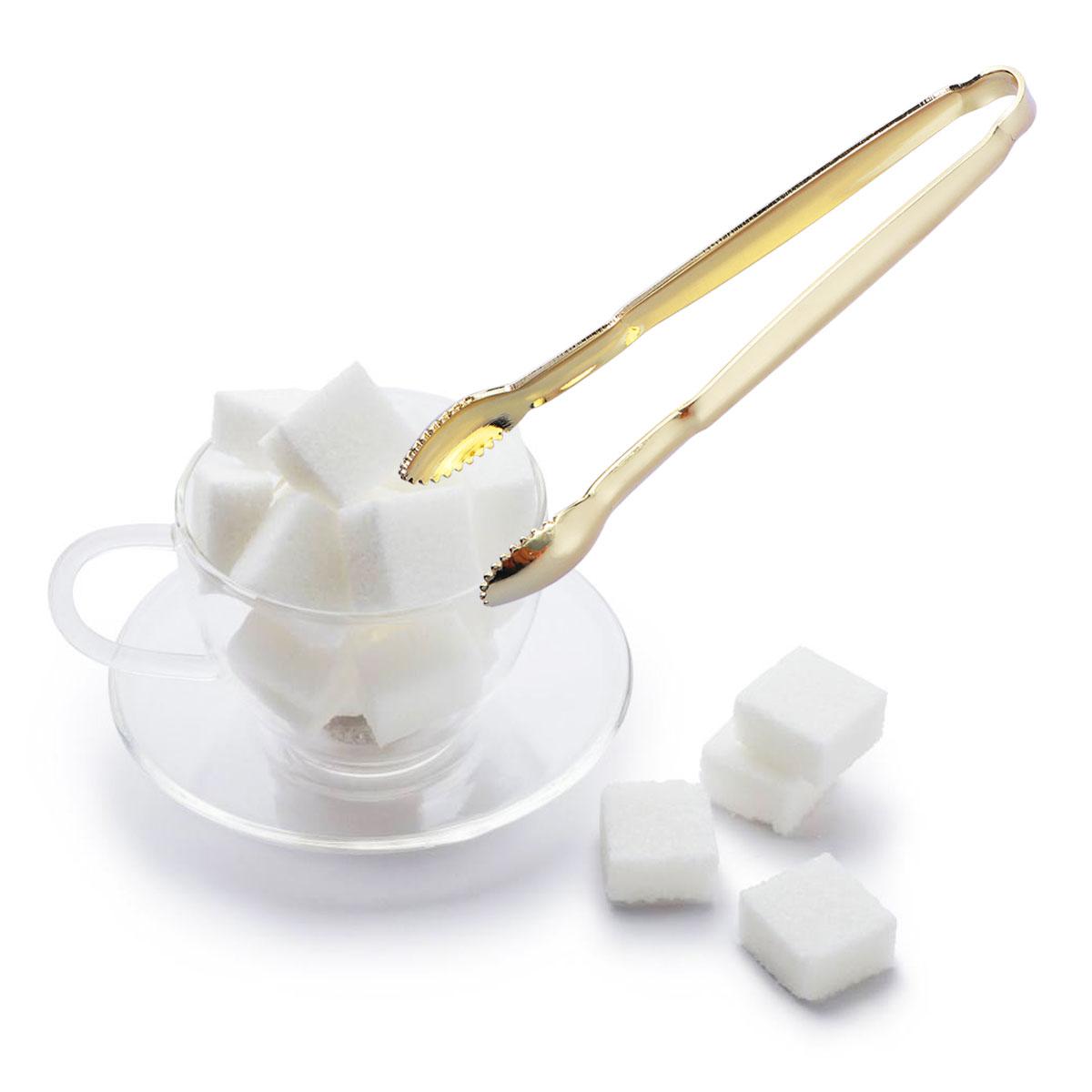 [해외]2pcs Gold Plated Mini Serving Tongs Sugar Cube Tongs Premium Stainless Steel Mini Ice Tong Perfect for Tea Party Coffee Supplies/2pcs Gold Plated