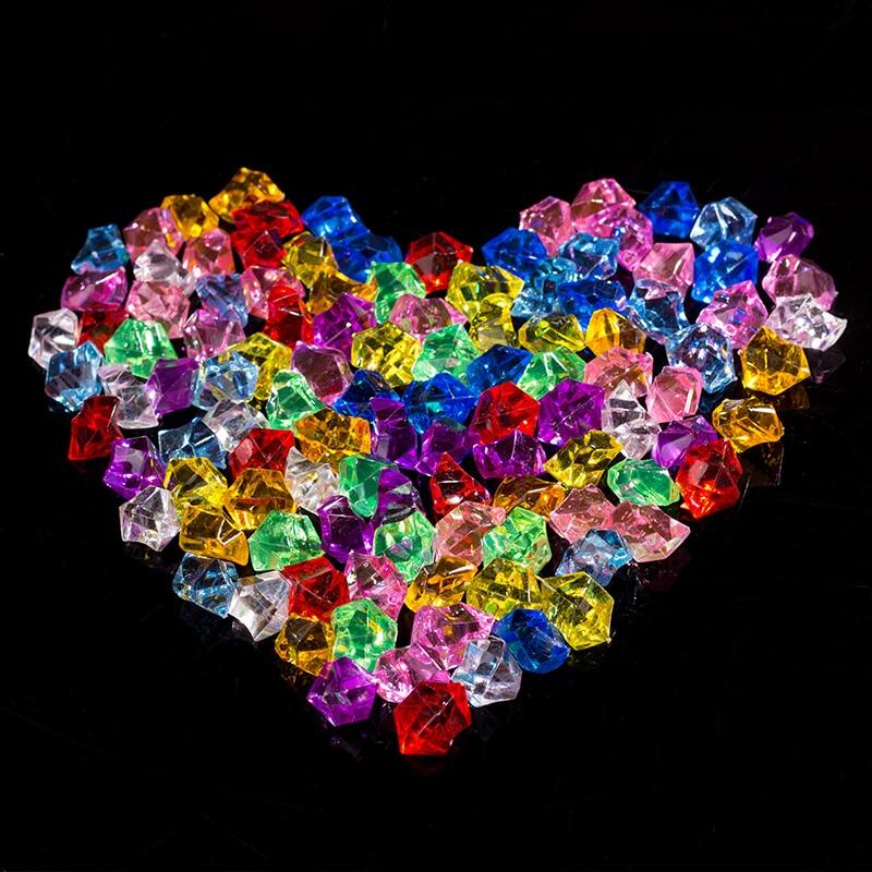 [해외]50Pcs Artificial Color Rock Acrylic Crystal Stone Plastic Transparent Vase Decorative Stone Fish Tank Home Wedding Decorations/50Pcs Artificial Co