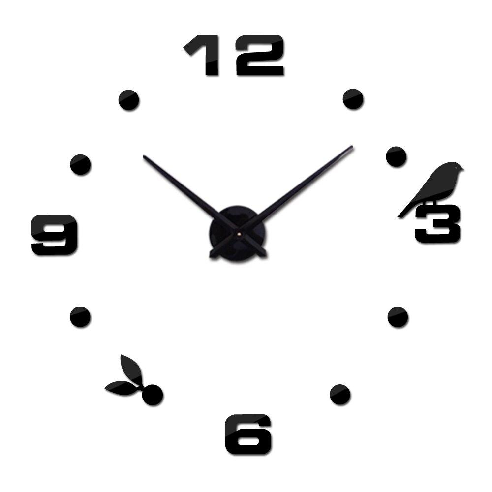 [해외]New Diy 3d Acrylic Mirror Large Home Decoration Clock Wall Clocks Horloge Watch Quartz Living Room Circular /New Diy 3d Acrylic Mirror Large Home