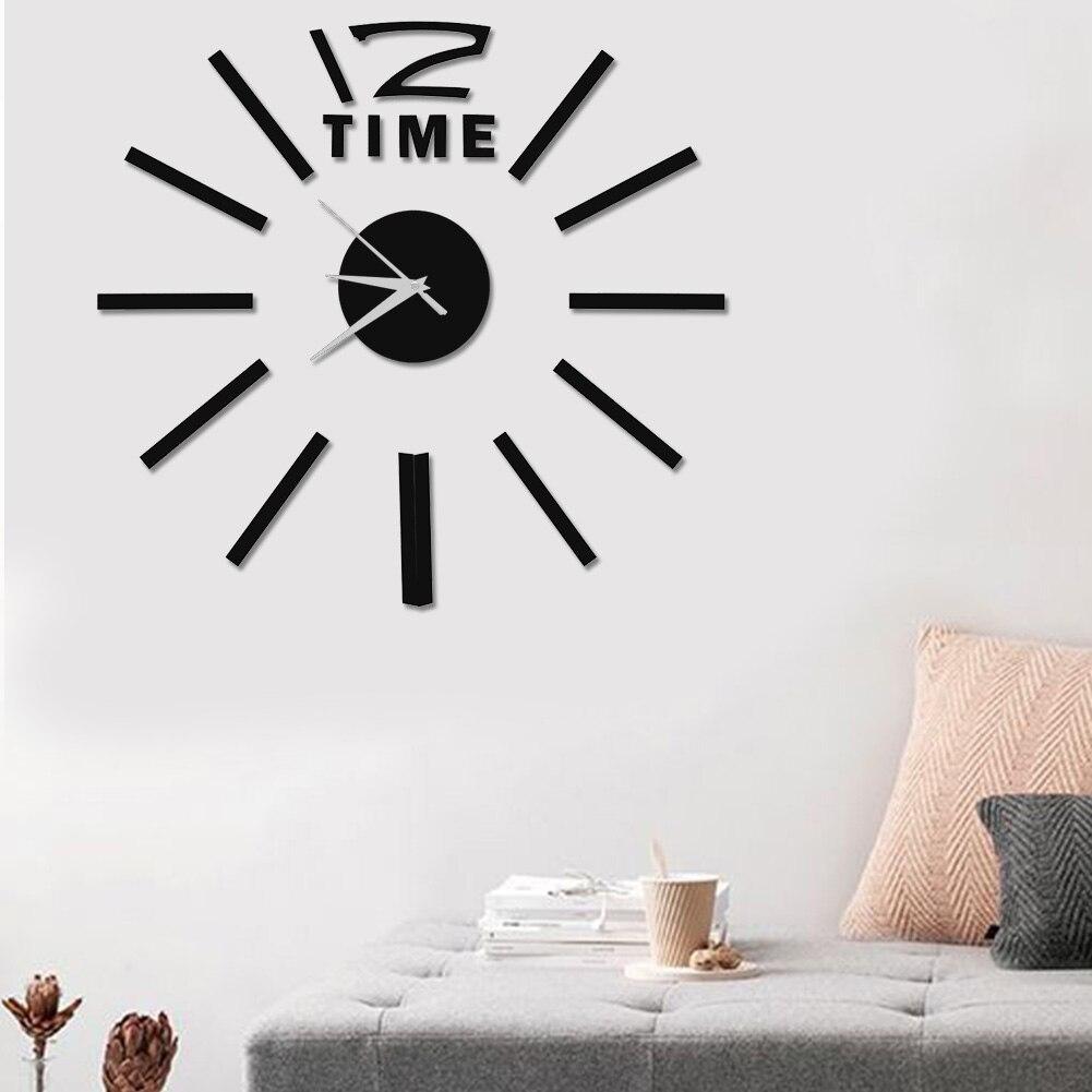 [해외]크리 에이 티브 3d 스티커 큰 시계 장식 diy 벽 현대 홈 오피스 룸 장식 현대 디자인 벽시계/크리 에이 티브 3d 스티커 큰 시계 장식 diy 벽 현대 홈 오피스 룸 장식 현대 디자인 벽시계