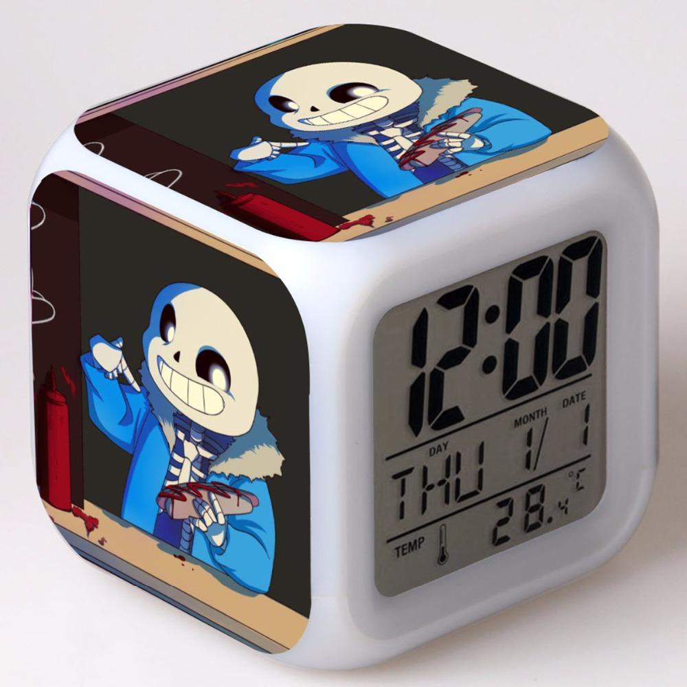 [해외]Undertale LED 알람 시계 광장 디지털 시계 reloj despertador 테이블 / 책상 wekker reveil 프로젝션 밤 라이트 시계/Undertale LED Alarm Clock Square Digital Clock reloj desperta