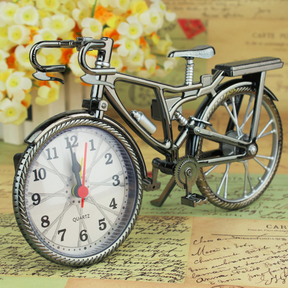 [해외]1PCS 복고풍 자전거 알람 시계 쿨 스타일 시계 패션 성격 NZ-035 22 * ??6 * 13cm ping/1Pcs Retro bicycle Alarm Clock Cool Style Clock Fashion Personality NZ-035 22*6*13cm