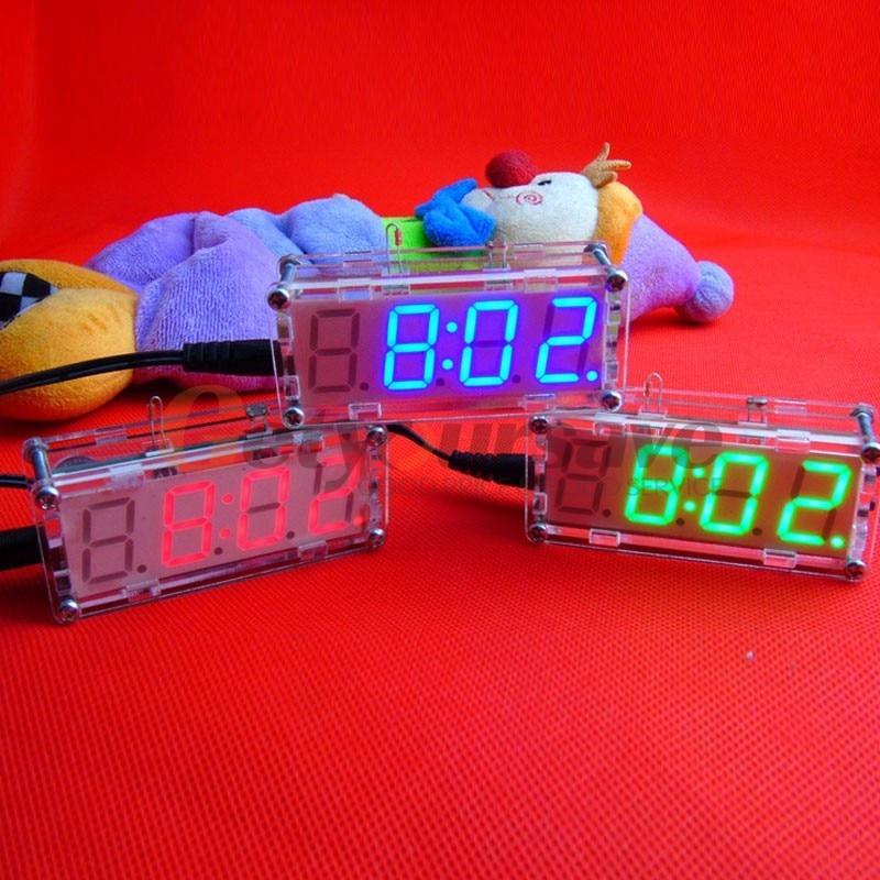[해외]Diy 어셈블리 전자 시계 키트 led 시계 온도 대체 디스플레이 내장 알람 시계 주방 바 파티/Diy 어셈블리 전자 시계 키트 led 시계 온도 대체 디스플레이 내장 알람 시계 주방 바 파티