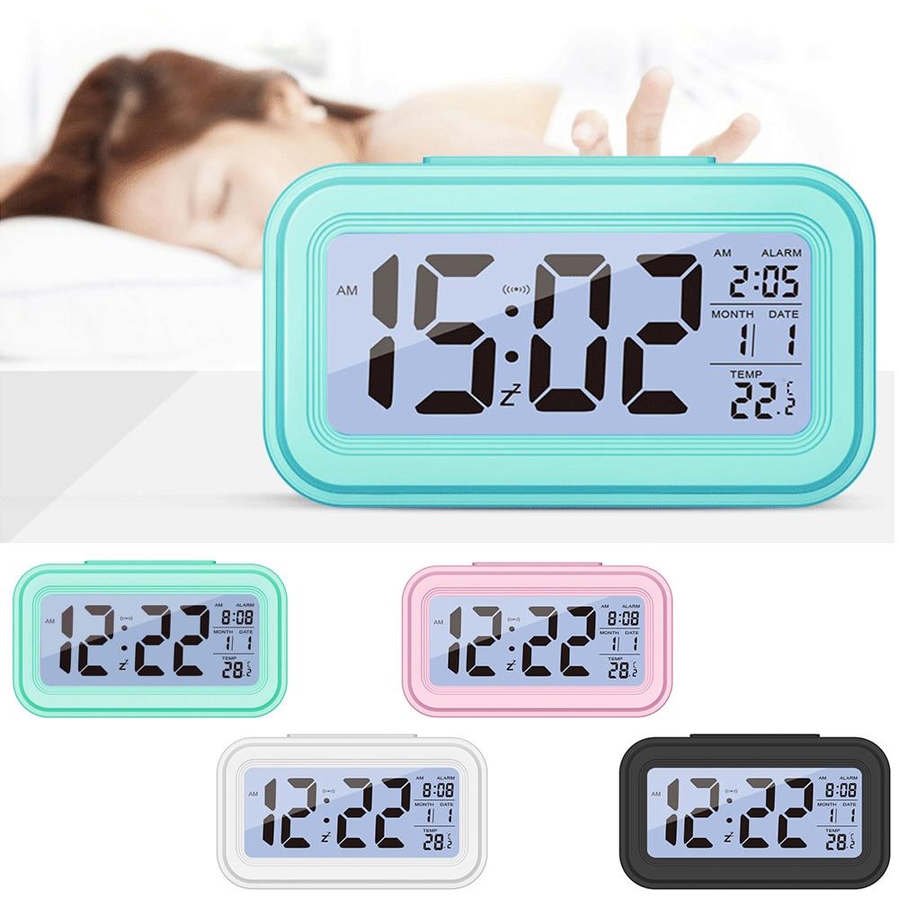 [해외]전자 테이블 시계 홈 오피스 여행 책상 장식 시계에 대 한 뜨거운 판매 대형 led 디지털 알람 시계 온도 디스플레이/전자 테이블 시계 홈 오피스 여행 책상 장식 시계에 대 한 뜨거운 판매 대형 led 디지털 알람 시계 온도 디스플레이