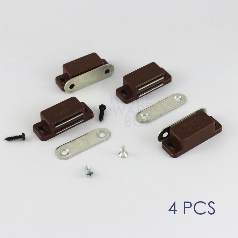 [해외]자기 도어 캐치 자석 캐비닛 찬장 문 래치 4 개 갈색 플라스틱/magnetic door catch magnet cabinet cupboard door latch 4 pcs brown plastic