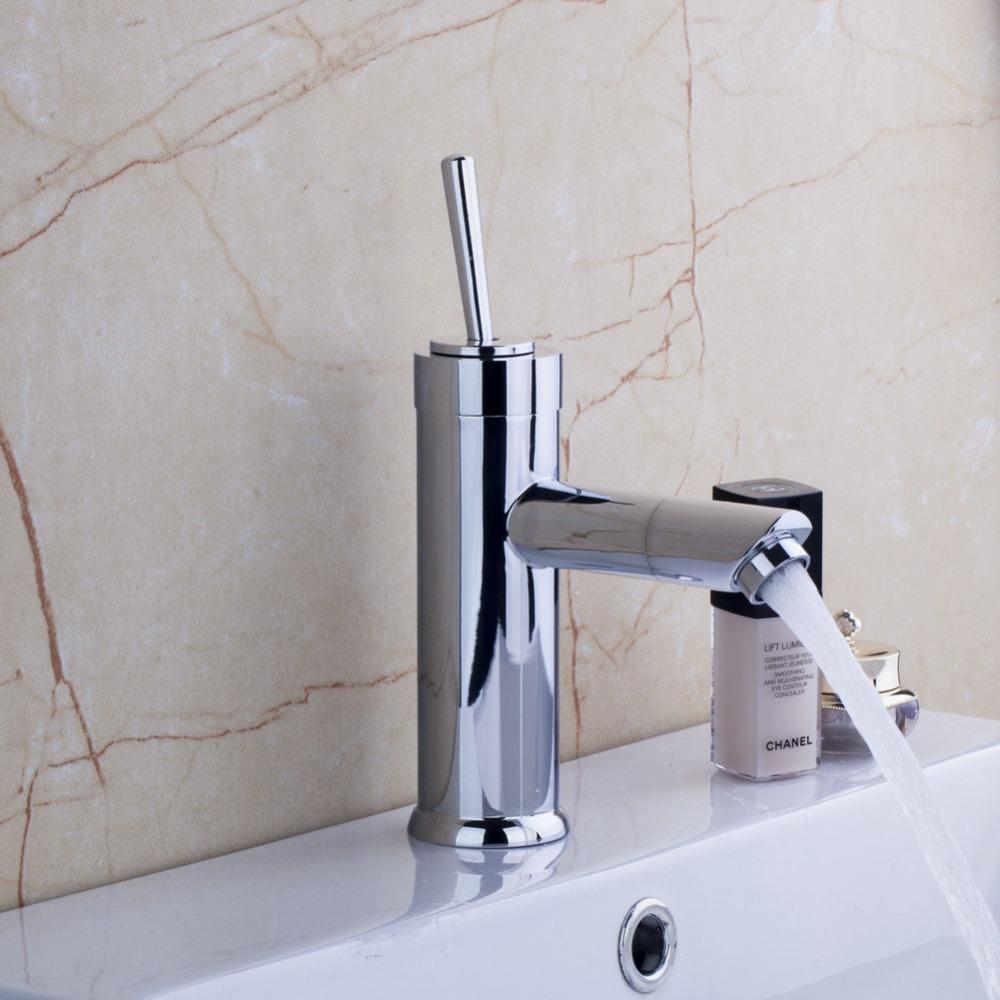 [해외]Monite 욕실 분지의 수도꼭지 현대적인 디자인 Rotatble 물 르네 크롬 광택 싱크 믹서 탭 온천과 차가운 도청 데크 장착/Monite Bathroom Basin Faucet  Modern Design Rotatble Water Spout Chrome P