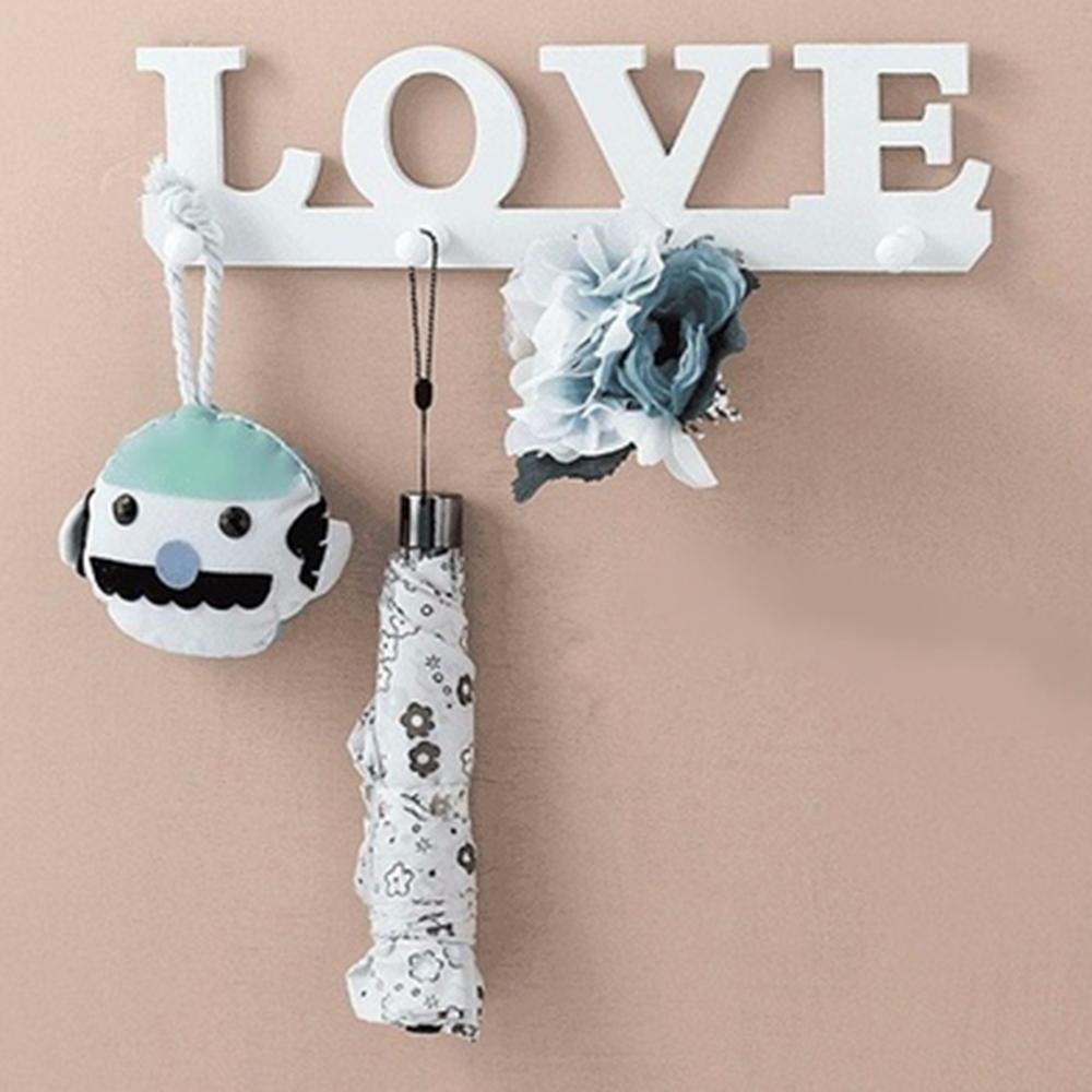 [해외]귀여운 빈티지 화이트 러브 후크 문 옷 로브 키 홀더 모자 행거 벽 홈/Cute Vintage White LOVE Hook Door Clothes Robe Key Holder Hat Hanger Wall Home