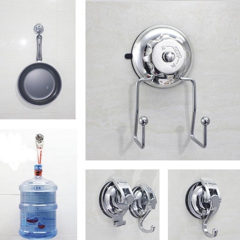 [해외]1PC ABS 옷 걸이 빨 래 후크 부엌 욕실 액세서리 빨판 컵 벽 걸이 걸이 걸이 키 홀더 공급/1PC ABS clothes hanger Sucker Hooks for Kitchen Bathroom Accessories Sucker Cup Wall Mounte