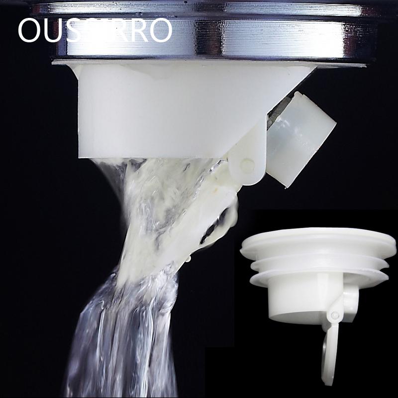[해외]흰색 냄새 증명 바닥 사이펀 배수구 커버 싱크 스트레이너 욕실 플러그 트랩 물 흡수 필터 주방 싱크 액세서리/White Smell Proof Shower Floor Siphon Drain Cover Sink Strainer Bathroom Plug Trap Wa