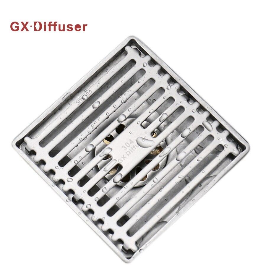 [해외]GX 산 기관 욕실 샤워 배수관 스테인리스 강 스테인레스 스틸 SUS304 선형 배수구 배수 욕탕 배수구/GX Diffuser Bathroom Shower Drains Stainer Stainless Steel SUS304 Linear Floor Drain Gr