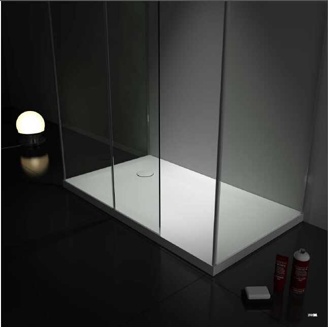 [해외]CUPC 고체 표면 스톤 사각형 샤워 트레이 초박형 인공 돌 유리 오두막 샤워 팬 1200X800X50mm WD04106/CUPC Solid Surface Stone Rectangular Shower Tray Ultra-thin Artificial Stone G