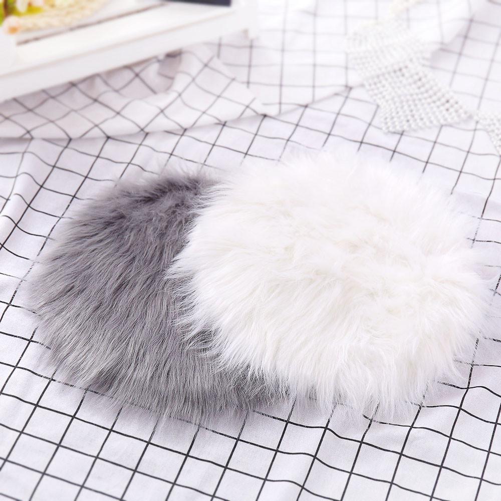 [해외]Round Soft Artificial Sheepskin Rug  Cover Artificial Wool Warm Hairy Carpet Whit 12.12/Round Soft Artificial Sheepskin Rug  Cover Artificial Wool