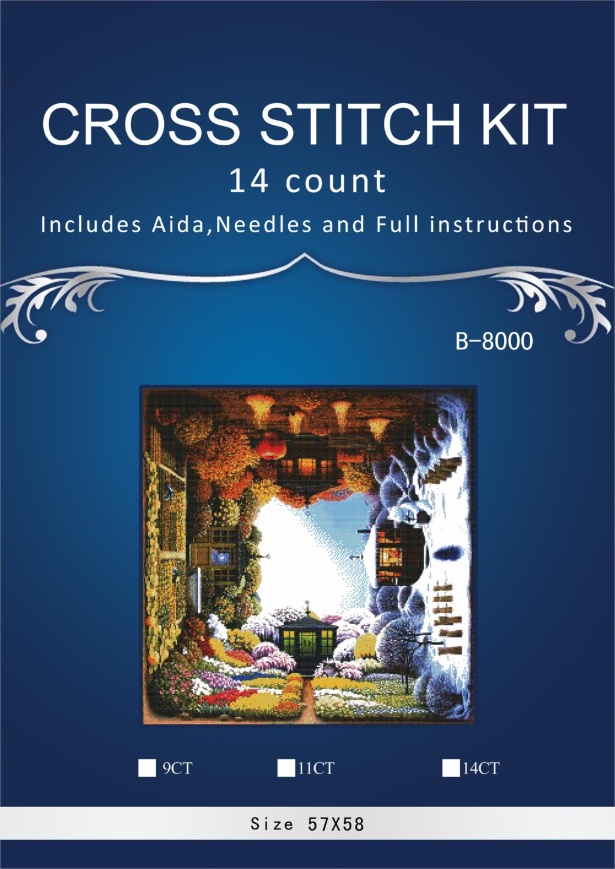 [해외]oneroom Embroidery Counted Cross Stitch Kits Needlework - Crafts 14 ct DMC color DIY Arts Handmade Decor - Four Seasons/oneroom Embroidery Counted