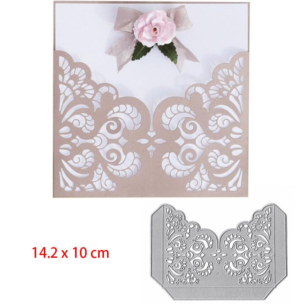 [해외]Corner Flower Metal Cutting Dies For DIY Scrapbooking Stamps Stencil Wedding Invitation Album Frame Craft Dies Decor Fustelle/Corner Flower Metal