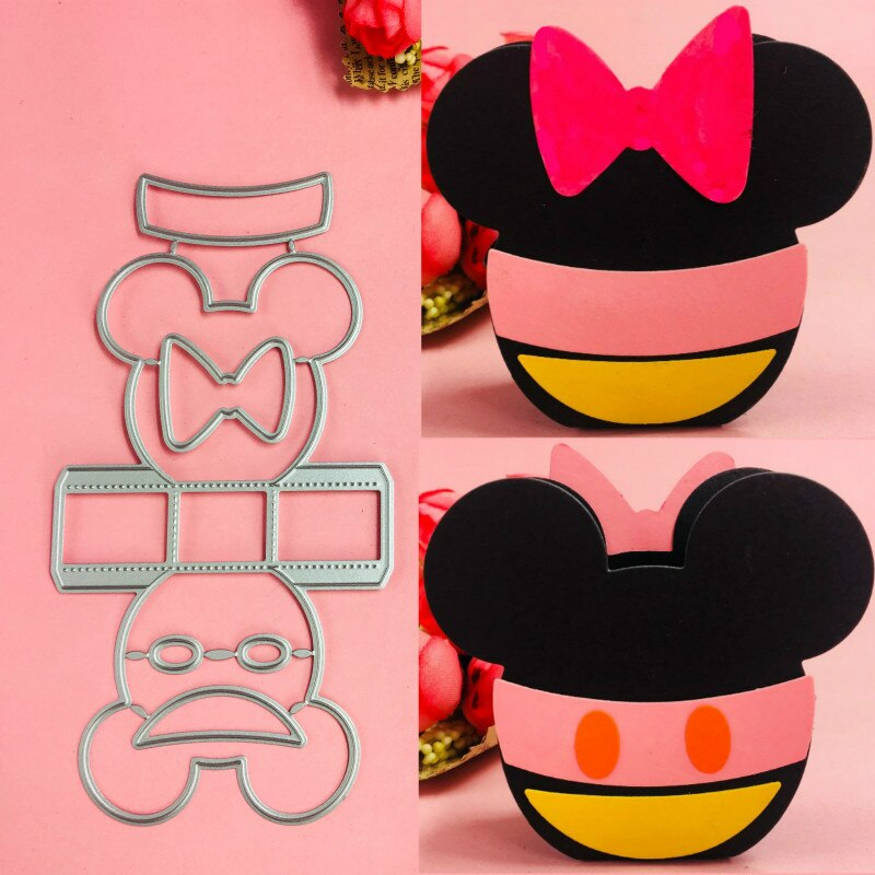 [해외]Mickey Minnie basket box Metal Cutting Dies scrapbooking embossing folder suit for sizzix fustella big shot cutting machine     /Mickey Minnie bas