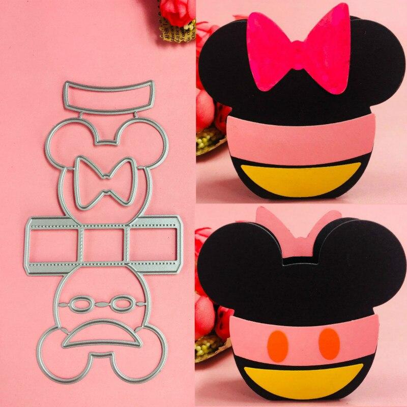 [해외]Mickey Minnie basket box Metal Cutting Dies scrapbooking embossing folder suit for sizzix fustella big shot cutting machine     /Mickey Minnie bas