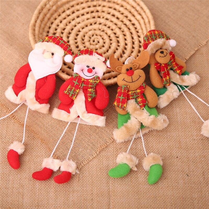 [해외]Merry Christmas Santa Snowman Elk Festival Holiday Tree Decorations for Home Xmas New Year Natal Navidad Noel Pendant Supplies/Merry Christmas San