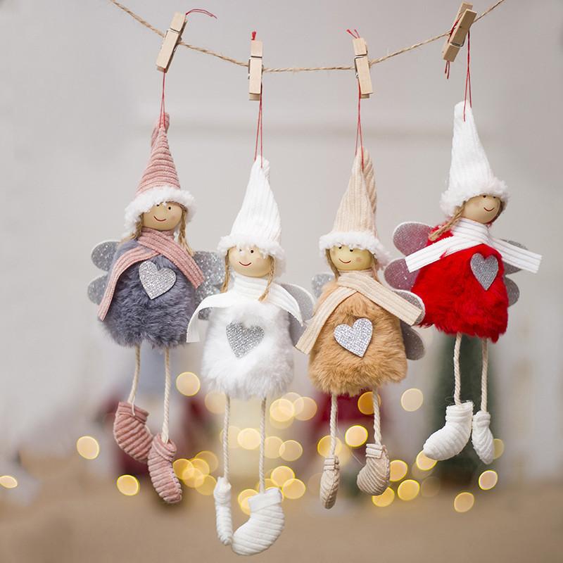 [해외]Wynlzq 산타 클로스 눈사람 인형 장식품 펜 던 트 크리스마스 트리 장식 홈 웨딩 크리스마스 파티 2 개/가방/가방 어린이