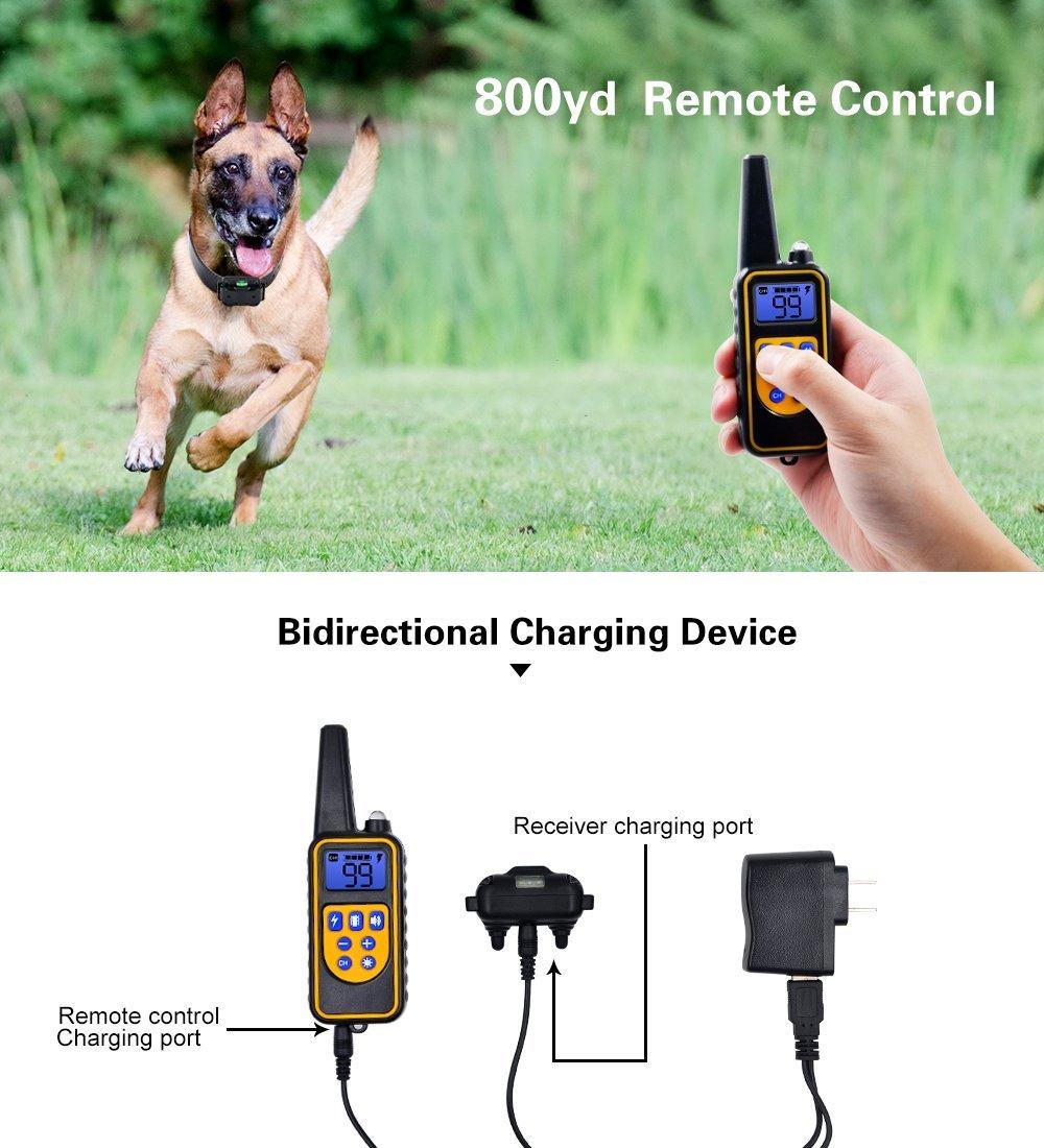 [해외]Electric Training Collar Pet Remote Control Waterproof RechargeableLCD Display For All Size Shock Vibration Sound/Electric Training Collar Pet Rem
