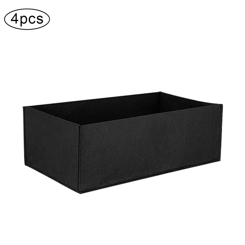 [해외]4pcs/pack Aeration Planting Grow Bags Non-Woven Rectangular Flowerpot Water-Absorbent Corrosion-Resistant Flower Pot/4pcs/pack Aeration Planting G