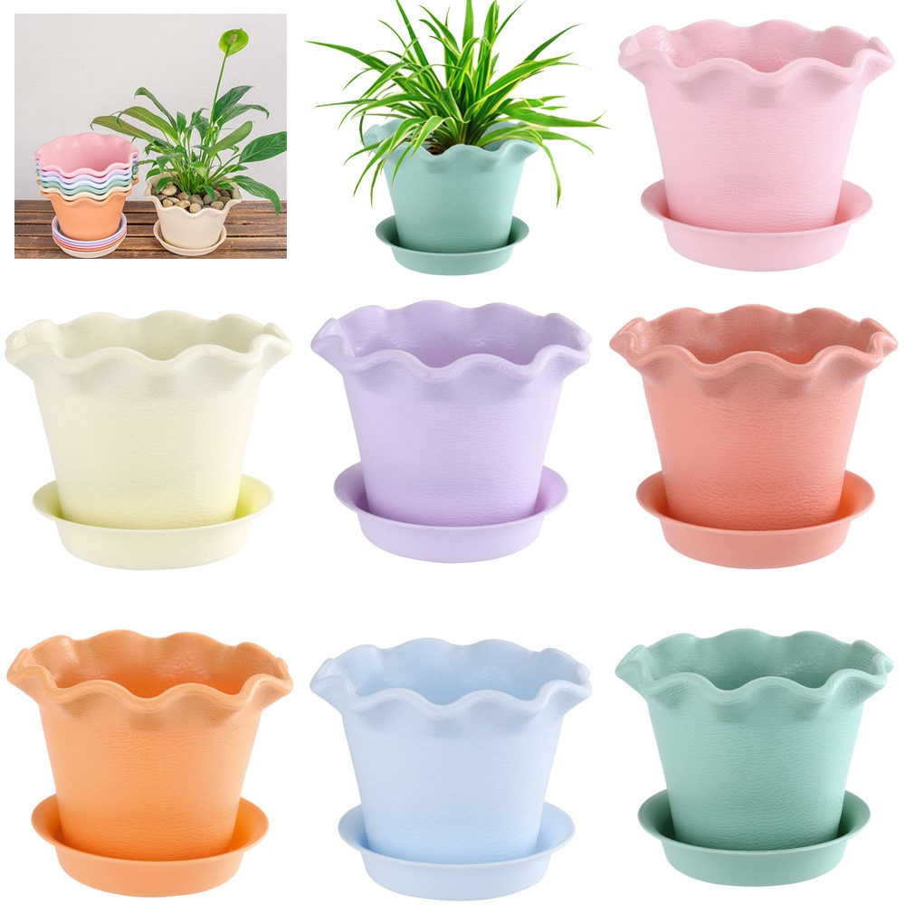 [해외]Colourful Mini Resin Pots Flower Pot trays Succulent Plant Flowerpot Home Office Decor Small Pots for Succulent plants 3.18/Colourful Mini Resin P