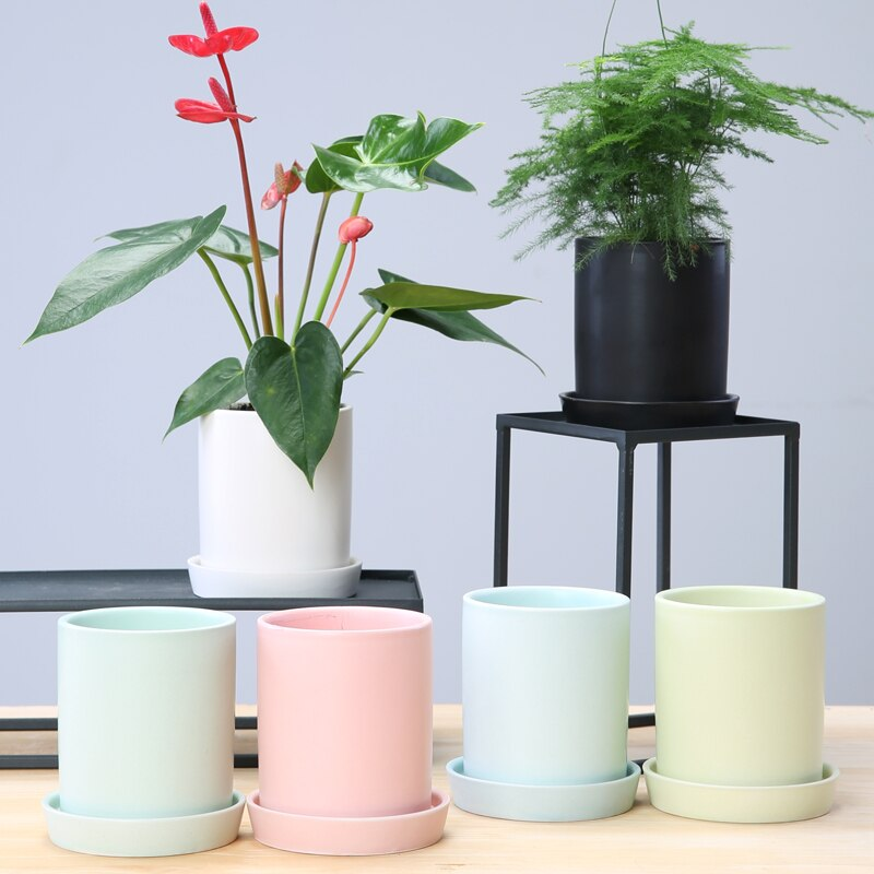 [해외]European flower pot ceramic porous matt simple succulent plant/European flower pot ceramic porous matt simple succulent plant