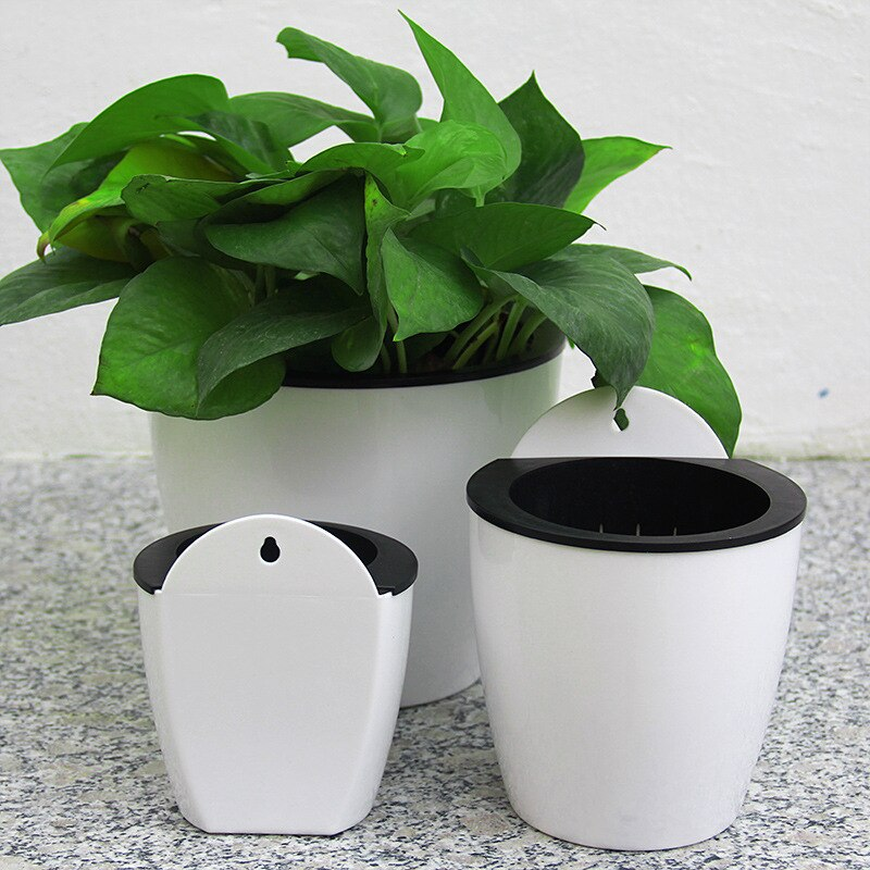[해외]Hydroponic wall-mounted lazy flowerpot automatically absorbs water savings green little flowerpot/Hydroponic wall-mounted lazy flowerpot automatic