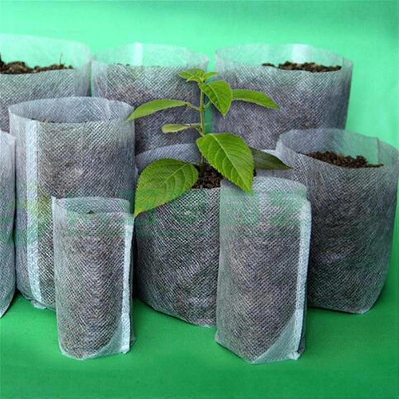Nursery Pots Seedling-Raising Bags non-woven fabrics Garden Supplies Environmental Protection Full All Size 200pcs-pack jt021/Nursery Pots Seedlin
