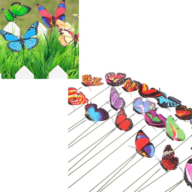 [해외]Set of 24 Garden Yard Planter Colorful Flying Butterfly Stakes Garden Decorating Stakes/Set of 24 Garden Yard Planter Colorful Flying Butterfly St