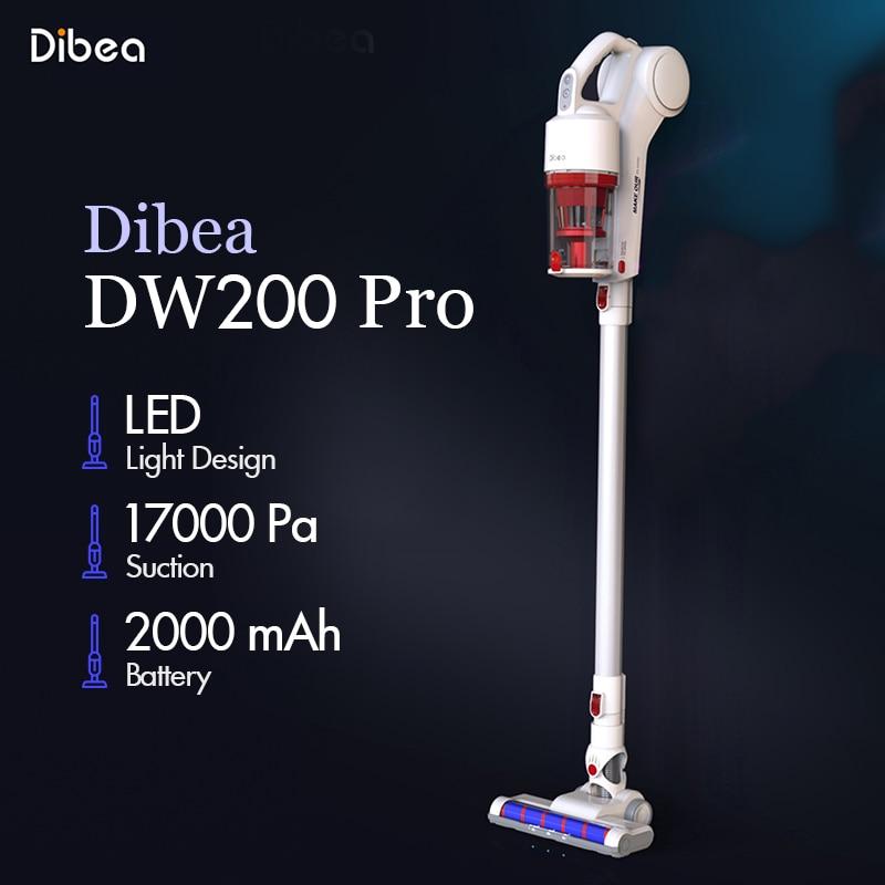 [해외]Dibea d200 pro 핸드 헬드 무선 진공 청소기 휴대용 무선 강력한 흡입 aspirador 홈 카펫 사이클론 집진기