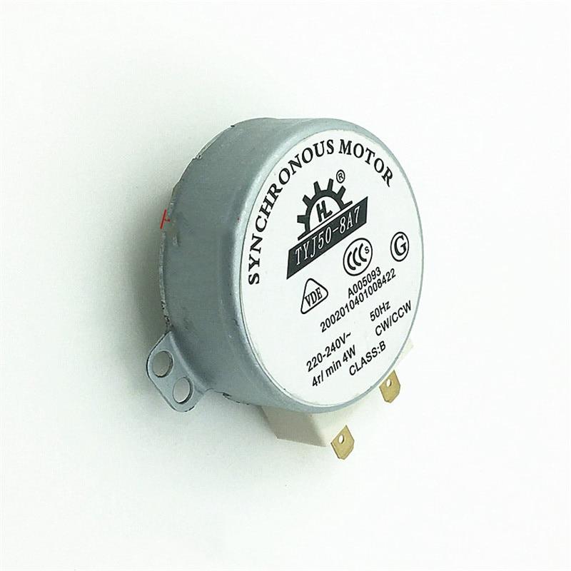 [해외]전자 레인지 턴테이블 동기 모터 4 w ac 220-240 v 4 rpm cw/ccw TYJ50-8A7 전자 레인지 예비 부품 액세서리/전자 레인지 턴테이블 동기 모터 4 w ac 220-240 v 4 rpm cw/ccw TYJ50-8A7 전자