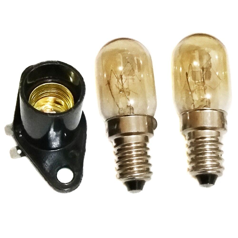 [해외]3 pcs e14 led 램프 홀더 어댑터 220 v 20 w 라이트 마이크로 웨이브 오븐 부품 4 cm 와이드 곡선 발 고온 방지 램프 홀더/3 pcs e14 led 램프 홀더 어댑터 220 v 20 w 라이트 마이크로 웨이브 오븐 부품 4
