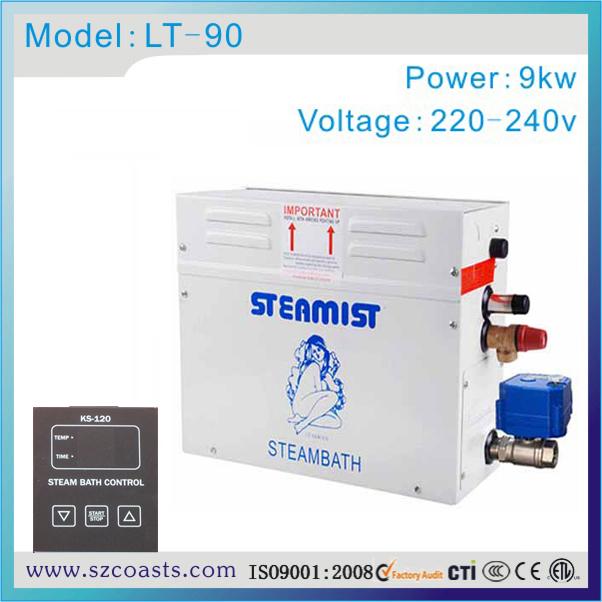 [해외]증기선 습식 스팀 배스 발전기 9kw 220v 자동 배수/Steamist wet steam bath generator 9kw 220v automatic drain