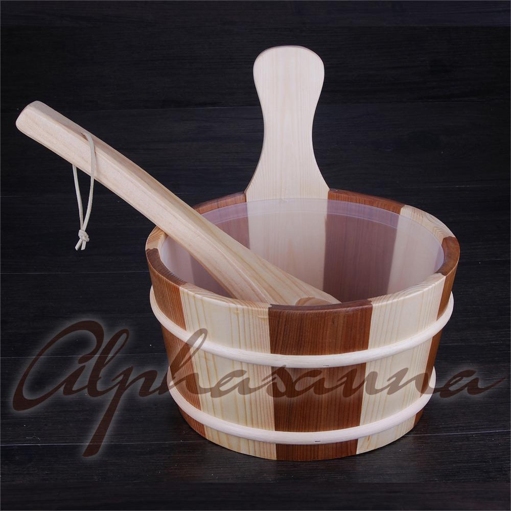 [해외] 4L 사우나 버킷 & 올챙이 레드 시더 & amp; Pineremoval 라이너 공장 사우나 액세서리,, 사우나 딜러/Free shipping 4L Sauna Bucket and ladle Red Cedar& Pineremoval line
