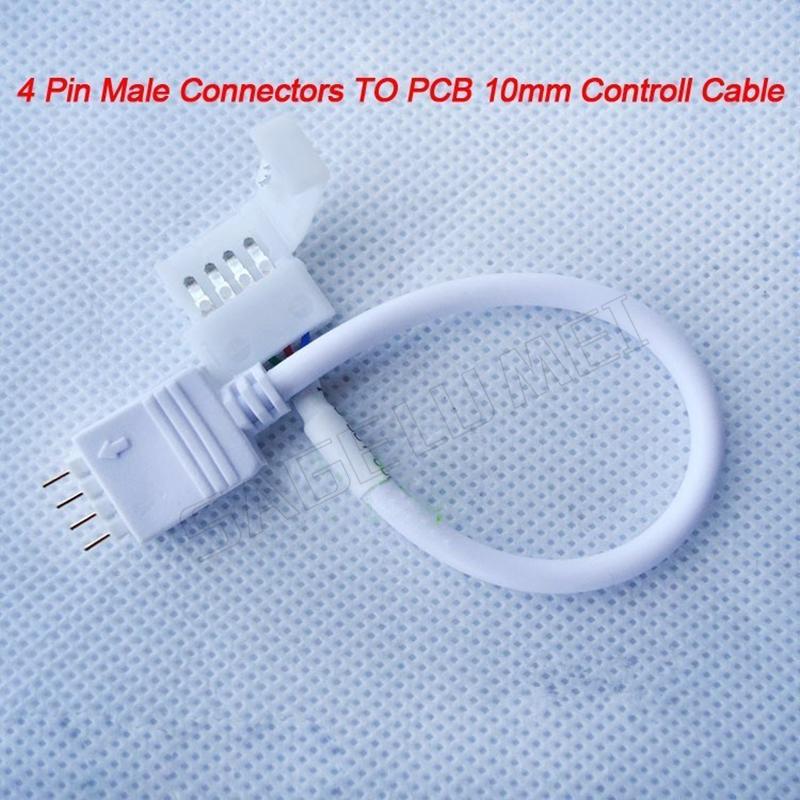 [해외] 10/20/50/100 pc / pack 4 핀 남성 커넥터 케이블 10mm 4PIN PCB Controll 케이블 유연한 5050 RGB LED 스트립에 대 한/Free shipping 10/20/50/100 pcs/pack 4 Pin Male Connect