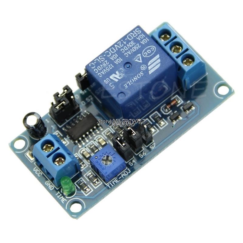[해외]DC 12V 지연 릴레이 지연 스위치 켜기 / 지연 스위치 모듈 타이머 M10 dropship 끄기/DC 12V Delay Relay Delay Turn on / Delay Turn off Switch ModuleTimer   M10 dropship