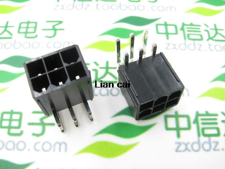 [해외]5559 4.2mm 검정색 6P 암 소켓 PC 컴퓨터 용 직선 또는 곡선 바늘 ATX 그래픽 카드 GPU PCI-E PCIe 전원 커넥터/5559 4.2mm black 6P female socket Straight or Curved needle for PC co
