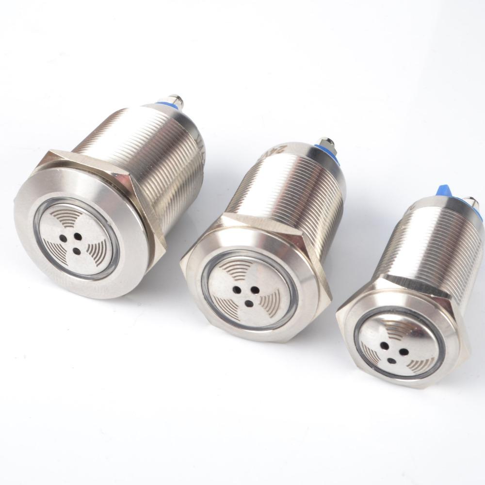 [해외]간헐적 인 16mm / 19m / 22mm 금속 펄스 방수 오일 밴드 빨간색 LED 램프 깜박임/Intermittent 16mm/19m/22mm metal pulse waterproof oil band red LED lamp flashing
