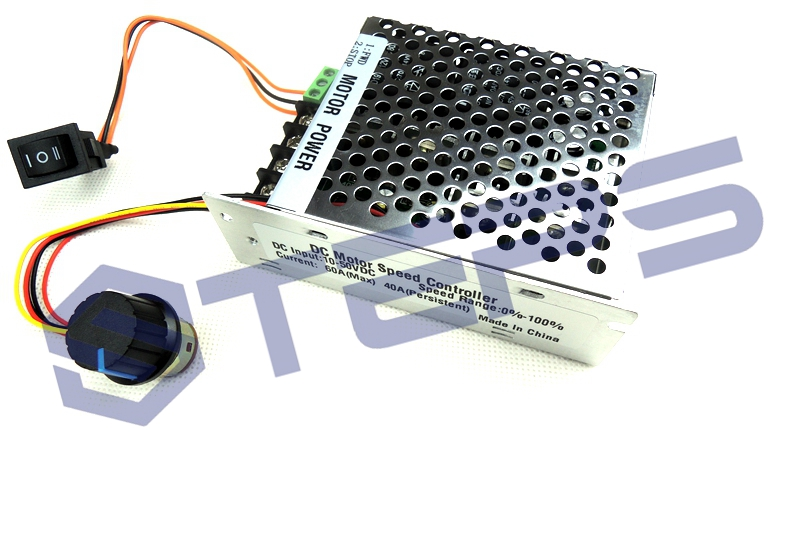 [해외] PWM DC 모터 속도 컨트롤러, 12V24v36v48v 역전 전환 스위치 40A 속도 지사/Free shipping PWM DC motor speed controller , Speed Governor 12v24v36v48v inverted switch rev