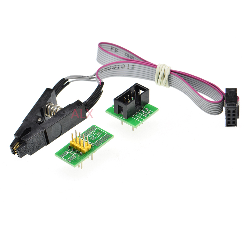 [해외]SOIC8 SOP8 FLASH CHIP IC 테스트 클립 소켓 어댑터 BIOS / 24 / 25 / 93 프로그래머 24C W25Q SOP8 TO DIP8 SPI BIOS FLASH/SOIC8 SOP8 FLASH CHIP IC Test Clips Socket A