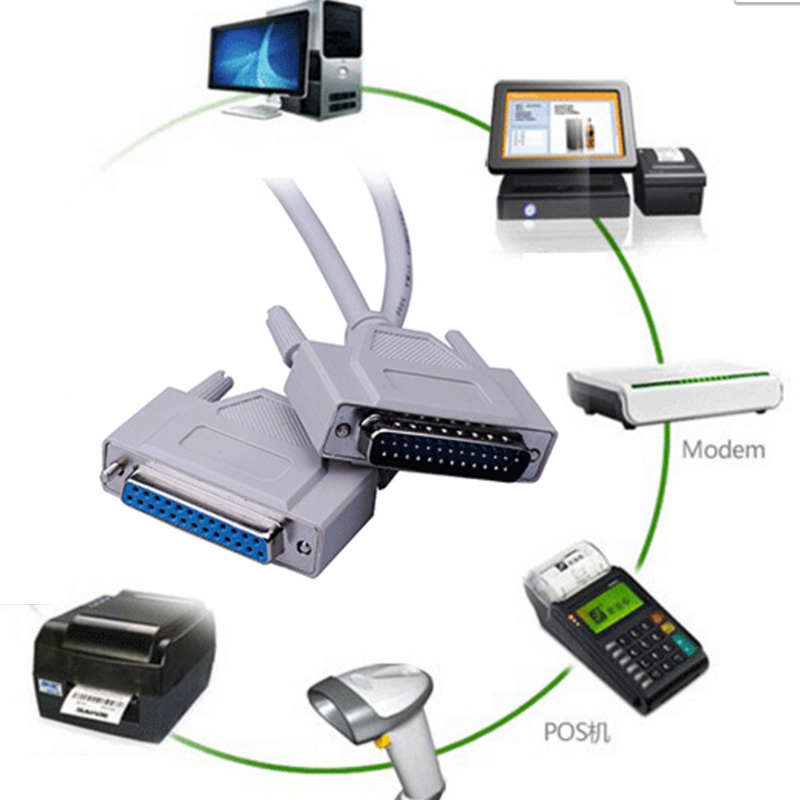 [해외]병렬 25 핀 25 핀 DB25 암 - 암 LPT 프린터 DB25 M-F LPT 케이블 커넥터 s0n22/Parallel 25Pin 25-Pin DB25 Male to Female LPT Printer DB25 M-F LPT Cable Connector s0n2
