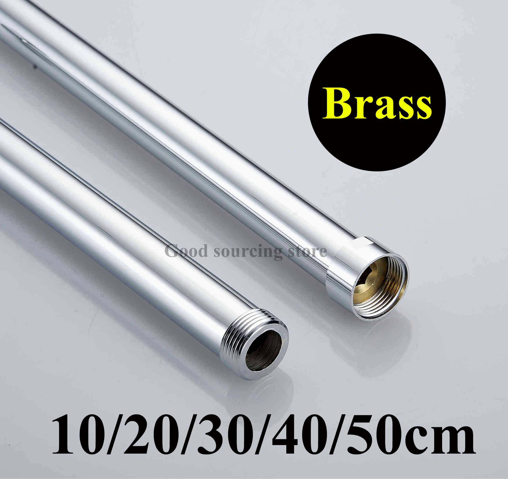 [해외]10 / 20 / 30 / 40 / 50cm 황동 샤워 연장 막대 튜브 바 파이프/10/20/30/40/50cm brass shower extension rod tube bar pipe